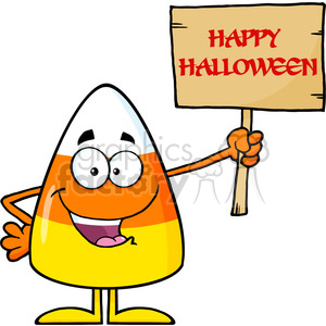 8880 Royalty Free RF Clipart Illustration Funny Candy Corn Cartoon Character Holding A Wooden Board With Text Vector Illustration Isolated On White clipart. Royalty-free image # 396270