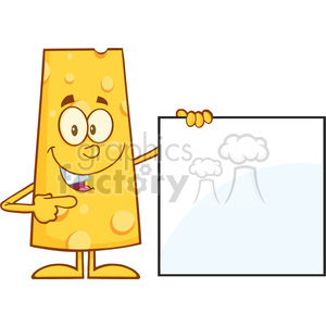 8513 Royalty Free RF Clipart Illustration Funny Cheese Cartoon Character Pointing To A Blank Sign Vector Illustration Isolated On White clipart. Royalty-free image # 396330
