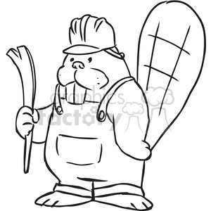 beaver construction vector RF clip art images clipart. Commercial use image # 397115