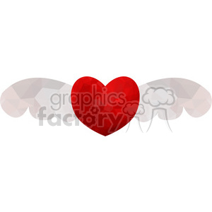 Heart wings geometry geometric polygon vector graphics RF clip art images clipart. Commercial use image # 397319