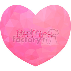 Conversation Heart geometry geometric polygon vector graphics RF clip art images clipart. Commercial use image # 397329