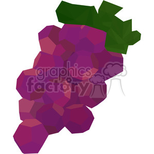 geometry polygons grapes fruit food purple