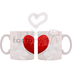Coffee Mugs geometry geometric polygon vector graphics RF clip art images clipart. Royalty-free image # 397349