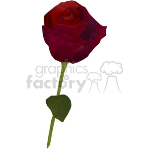 geometry polygons rose red flower flowers