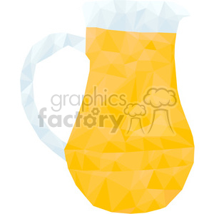 Pitcher of juice geometry geometric polygon vector graphics RF clip art images clipart. Commercial use image # 397369