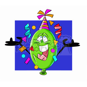cartoon party balloon vector image mascot happy clipart. Royalty-free image # 397439