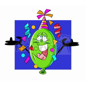 cartoon party balloon vector image mascot happy
