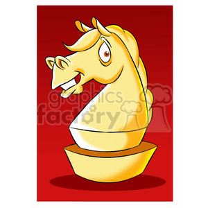 cartoon chess piece character knight clipart. Commercial use image # 397609