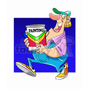 Sam carrying can of paint clipart. Royalty-free image # 397709
