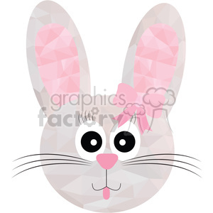 Girl Bunny clipart. Commercial use image # 397947