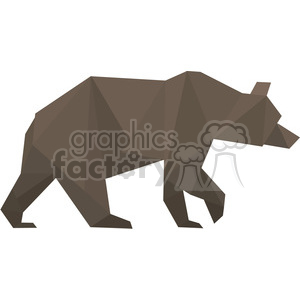 Bear polygon animal art clipart. Royalty-free image # 397957