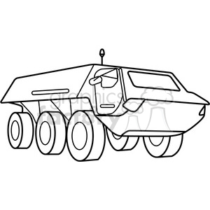 military armored security vehicle outline clipart. Commercial use image # 397977