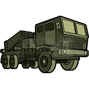 military armored mobile missle strick vehicle clipart. Commercial use image # 397997