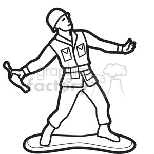black white toy gernader soldier illustration graphic clipart. Royalty-free image # 398047
