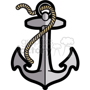 anchor design tattoo illustration clipart. Royalty-free image # 398057