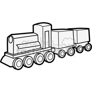 outline of wooden train illustration graphic clipart. Royalty-free image # 398067