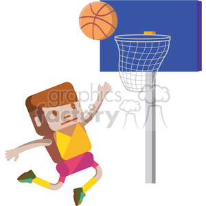 basketball player illustration clipart. Commercial use image # 398107