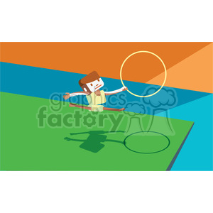 olympic gymnastics game character illustration clipart. Royalty-free image # 398127