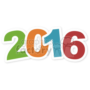 happy new year 2016 clipart. Commercial use image # 398177