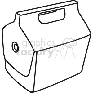 outline of closed cooler clipart. Royalty-free image # 398207