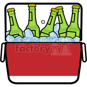 cooler full of ice cold beer icon clipart. Royalty-free image # 398217