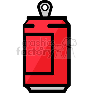 red soda can icon clipart. Commercial use image # 398227