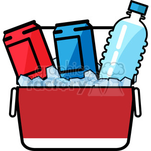 ice cold drinks in a cooler icon clipart. Commercial use image # 398237