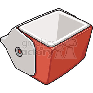 red opened cooler