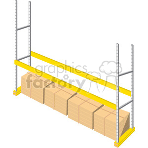 cartoon warehouse storage racks clipart. Royalty-free image # 398257