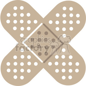 crossed band aids clipart. Royalty-free image # 398276