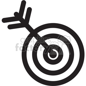 arrow and target icon clipart. Royalty-free image # 398292