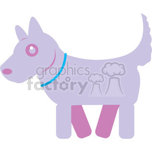 Purple Dog vector image RF clip art clipart. Commercial use image # 398449