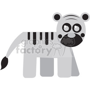 White_Tiger vector image RF clip art clipart. Commercial use image # 398459