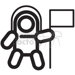 astronaut space walker vector icon clipart. Commercial use image # 398469