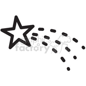 shooting star sparkles vector icon