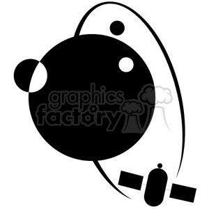 orbit of satallites vector icon clipart. Royalty-free image # 398519
