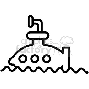 submarine in water vector icon clipart. Royalty-free image # 398539