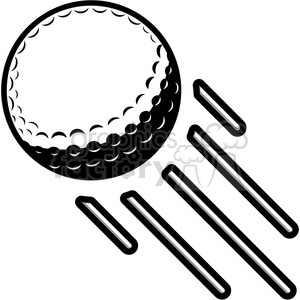 vector golf ball flying through air clipart. Commercial use image # 398806