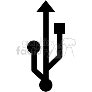 usb symbol vector icon clipart. Commercial use image # 398848