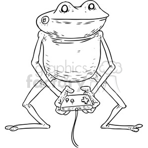 frog gamer vector illustration clipart. Royalty-free image # 398868