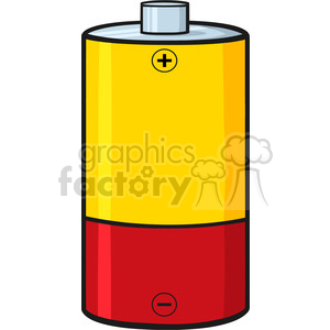 royalty free rf clipart illustration yellow and red battery cartoon vector illustration isolated on white clipart. Royalty-free image # 398955