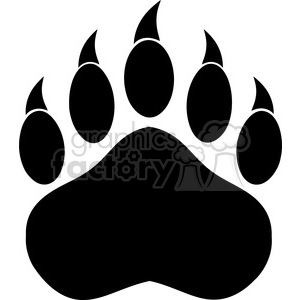 royalty free rf clipart illustration black bear paw with claws vector illustration isolated on white clipart. Royalty-free image # 398973