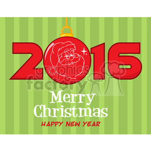 9022 royalty free rf clipart illustration mery christma and happy new year greeting with christmas ball and nubers vector illustration greeting card clipart. Royalty-free image # 399253