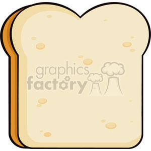 illustration cartoon bread slice vector illustration isolated on white background clipart. Commercial use image # 399382