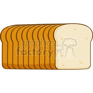 illustration cartoon bread loaf vector illustration isolated on white background clipart. Commercial use image # 399412