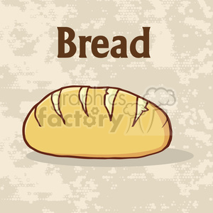 illustration cartoon loaf bread poster design with text vector illustration background clipart. Royalty-free image # 399513