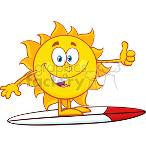 nature weather summer sun sunny cartoon happy smile surfing thumbs+up