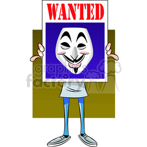 vector clipart image of anonymous person holding a sign clipart. Commercial use image # 400322