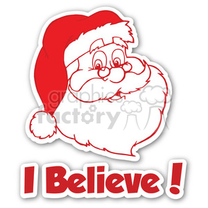 santa sticker i believe clipart. Royalty-free image # 400411