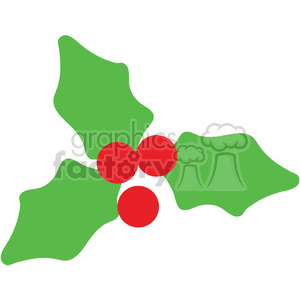holly berries icon vector art clipart. Commercial use image # 400494